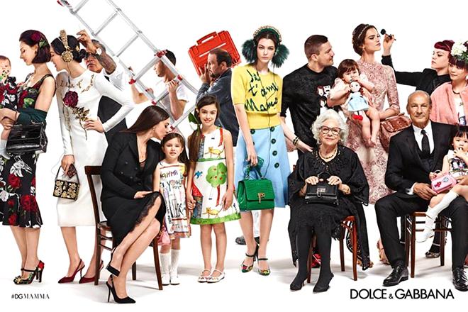 Campagne de publicité Dolce & Gabbana Automne-Hiver 2015