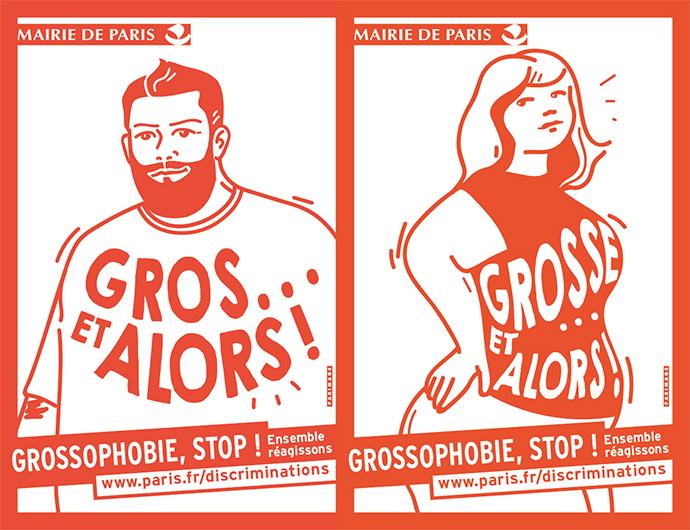 « Grossophobie, Stop ! Ensemble Réagissons » Mairie de Paris