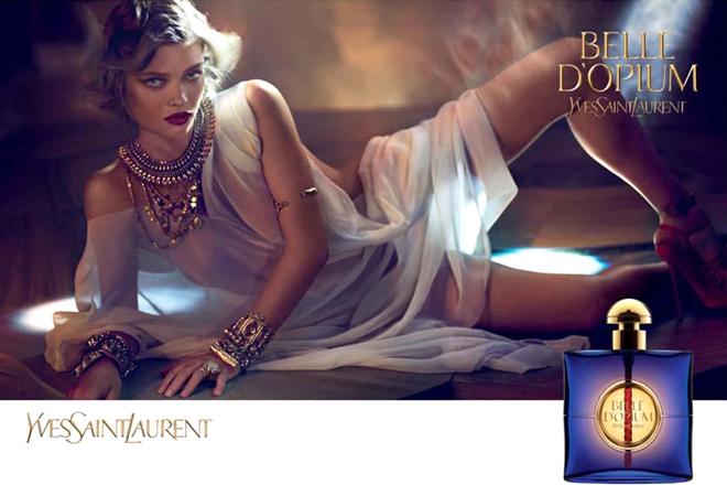 Melanie Thierry publicité Belle d'Opium  Yves Saint Laurent